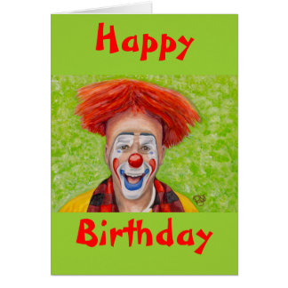 Clown Steven Daniel Copeland Greeting Cards