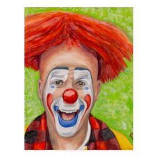 Clown Steven Daniel Copeland Postcard