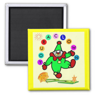 Clown Text  Magnet