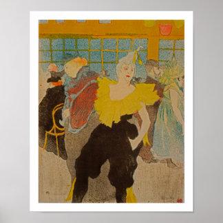 Clown - The Clowness by Henri de Toulouse-Lautrec Poster