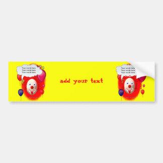 Clown Theme Party Bumper Sticker