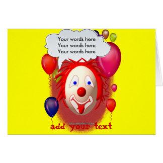 Clown Theme Party Card