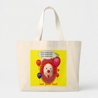 Clown Theme Party Large Tote Bag