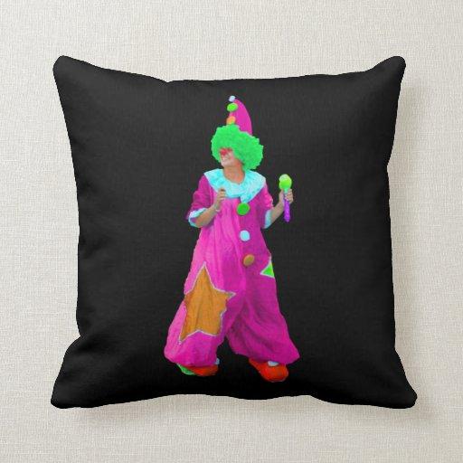 clown throw pillows