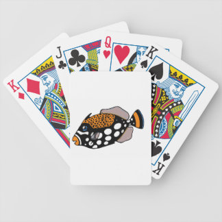 Clown Triggerfish Bicycle Playing Cards