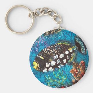 CLOWN TRIGGERFISH KEY CHAIN
