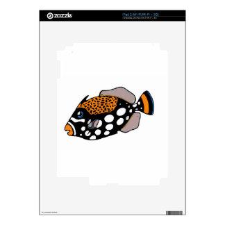 Clown Triggerfish Skin For The iPad 2