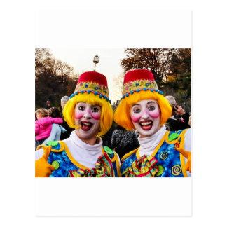 Clown Twiins Postcard