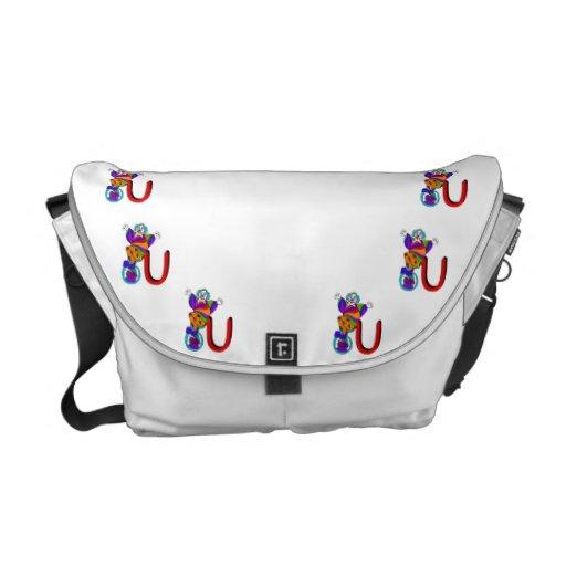Clown U.png Messenger Bags