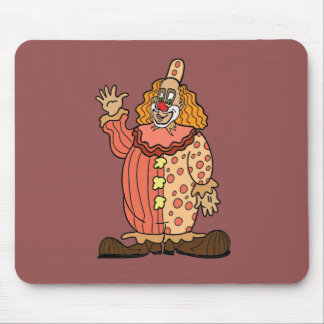 Clown Waving Mouse Pad