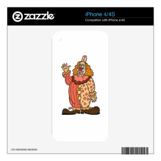 Clown Waving Skin For iPhone 4S