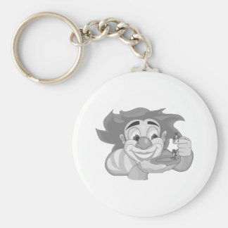 Clown with ants basic round button keychain