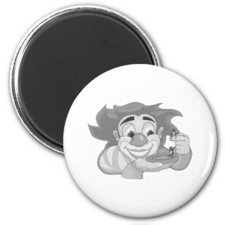 Clown with ants magnet