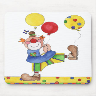Clown with Balloons Mousepad