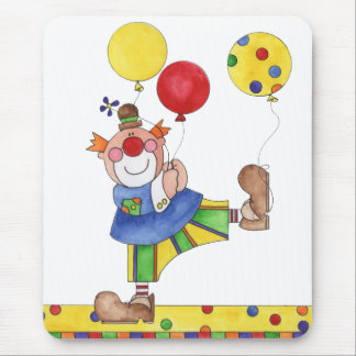 Clown with Balloons Mouse Pad