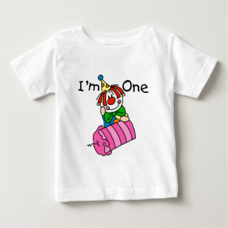 Clown with Candle 1st Birthday Tshirts and Gifts