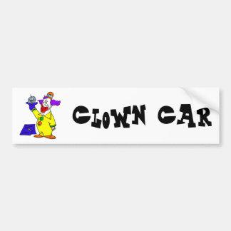 Clown with hand puppet car bumper sticker