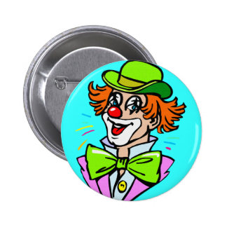 CLOWN WITH HAT  BUTTON