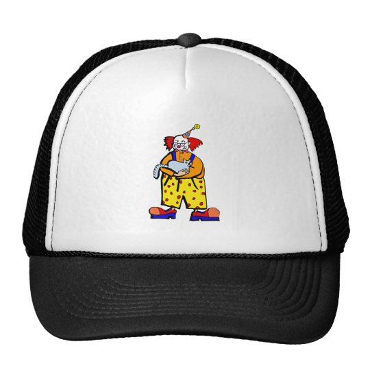 Clown with kitty Cat Trucker Hat