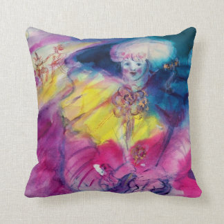 CLOWN WITH OWL AND VIOLIN THROW PILLOW