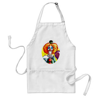 Clown with Pie Painting Aprons