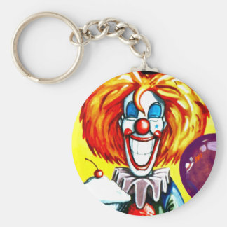 Clown with Pie Painting Keychain