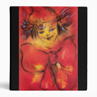CLOWN WITH RED RIBBON BINDER