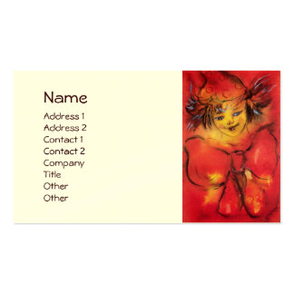 CLOWN WITH RED RIBBON BUSINESS CARD TEMPLATES