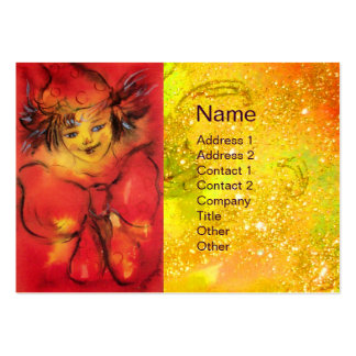CLOWN WITH RED RIBBON LARGE BUSINESS CARDS (Pack OF 100)