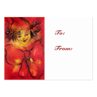 CLOWN WITH RED RIBBON LARGE BUSINESS CARD