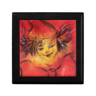 CLOWN WITH RED RIBBON / Venetian Masquerade Ball Jewelry Box