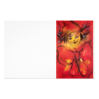 CLOWN WITH RED RIBBON / Venetian Masquerade Ball Stationery