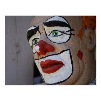 Clown With Sad Look Postcard