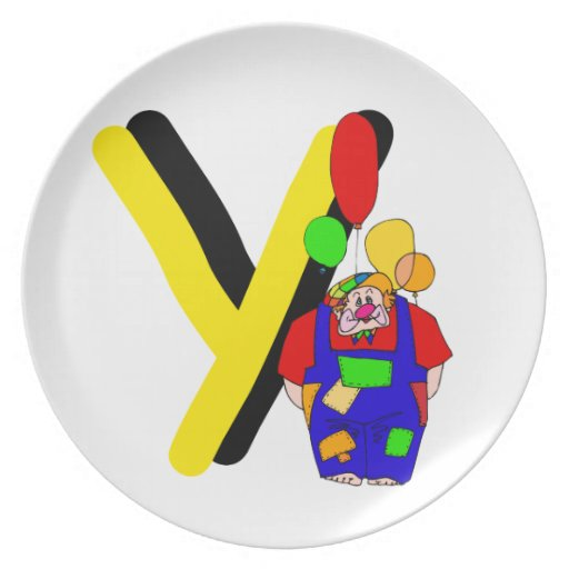 Clown Y.png Party Plates