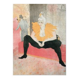 Clowness asentado de Enrique de Toulouse-Lautrec Invitación 16,5 X 22,2 Cm