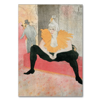 Clowness asentado de Enrique de Toulouse-Lautrec
