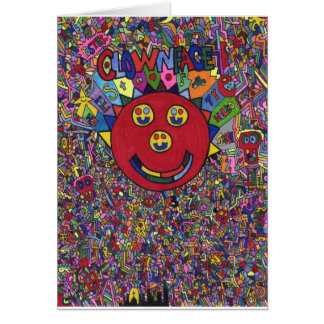 Clownfacearts Poster 1 Print - Kenny Lessing Greeting Cards