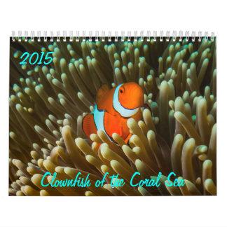 Clownfish 2015 del calendario del mar de coral