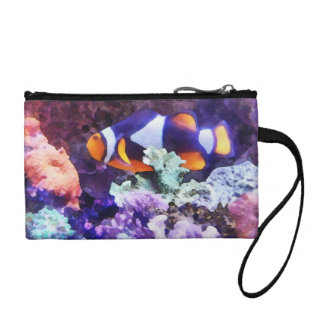 Clownfish and Coral Coin Purse