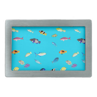 Clownfish and Tangs Scatter Rectangular Belt Buckle
