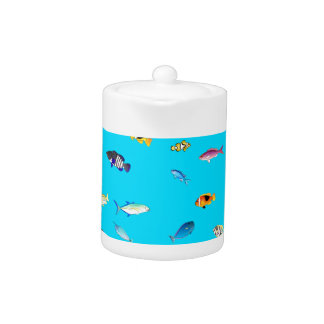 Clownfish and Tangs Scatter Teapot
