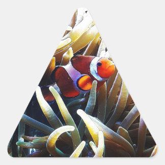 Clownfish Anemonefish Pegatina Triangular