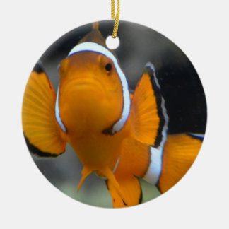 clownfish facing front ceramic ornament