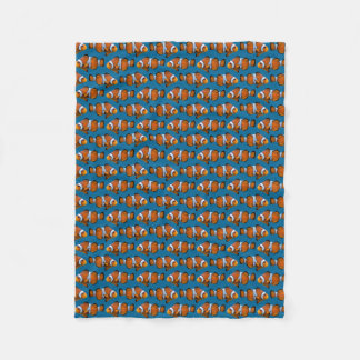 Clownfish Frenzy Fleece Blanket (Choose Colour)