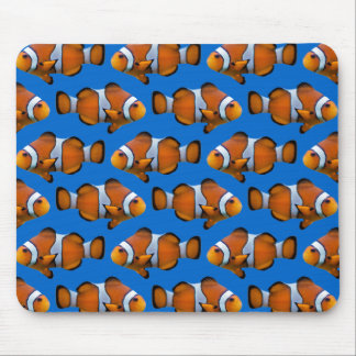Clownfish Frenzy Mousemat (Blue) Mouse Pad