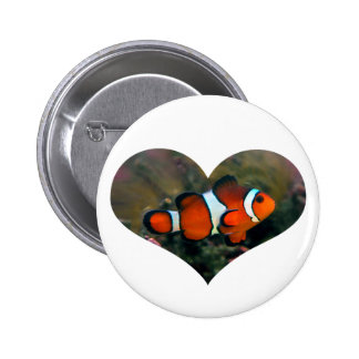 Clownfish Heart Button