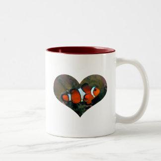 Clownfish Heart Mug