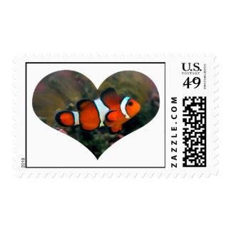 Clownfish Heart Postage Stamp