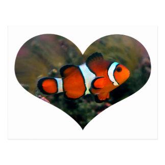 Clownfish Heart Postcard