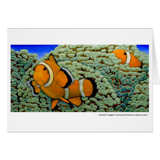 Clownfish in a Coral Card